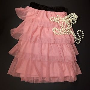 Candie's Skirts - AVAIL - Candie's Pink Tulle Sequin Tiered Skirt
